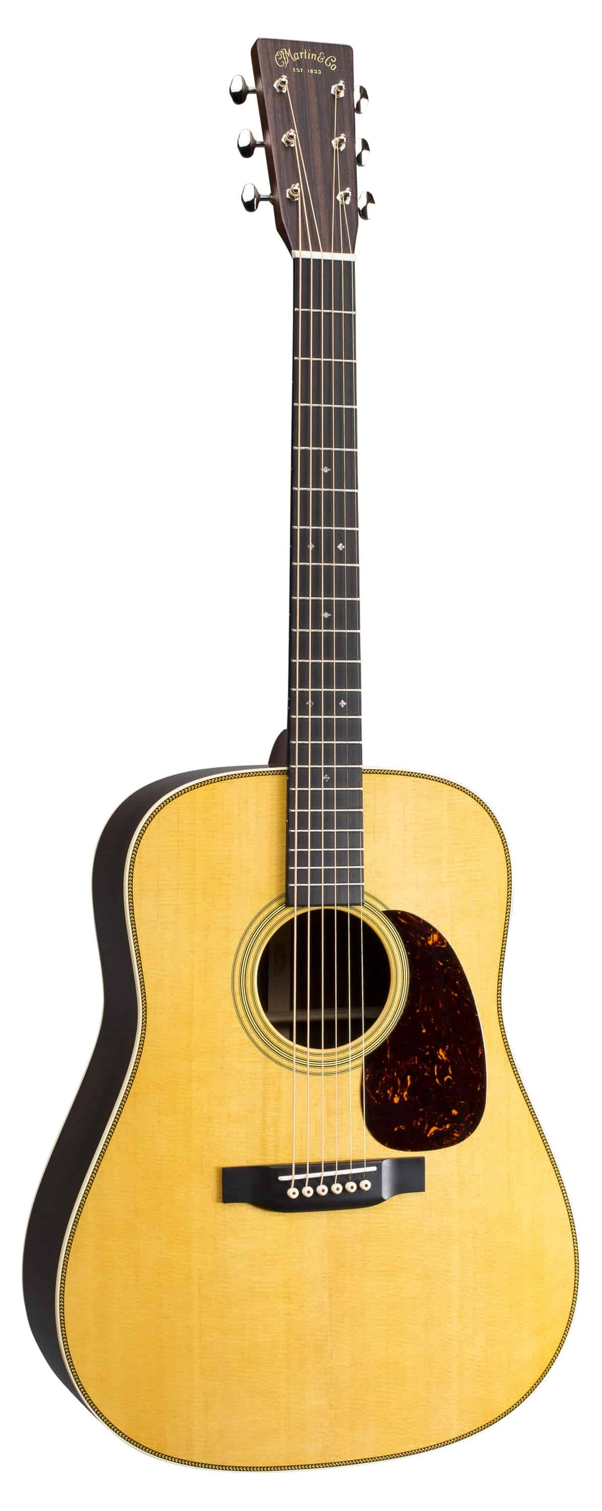 HD28 acoustic guitar is our top choice for acoustics.  Its well made and has a deep warm tone, but the high notes still have that shimmer.