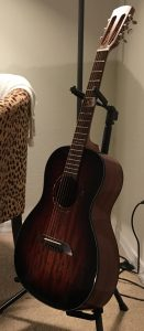 Alvarez AP66ESHB Artist Series Guitar in room