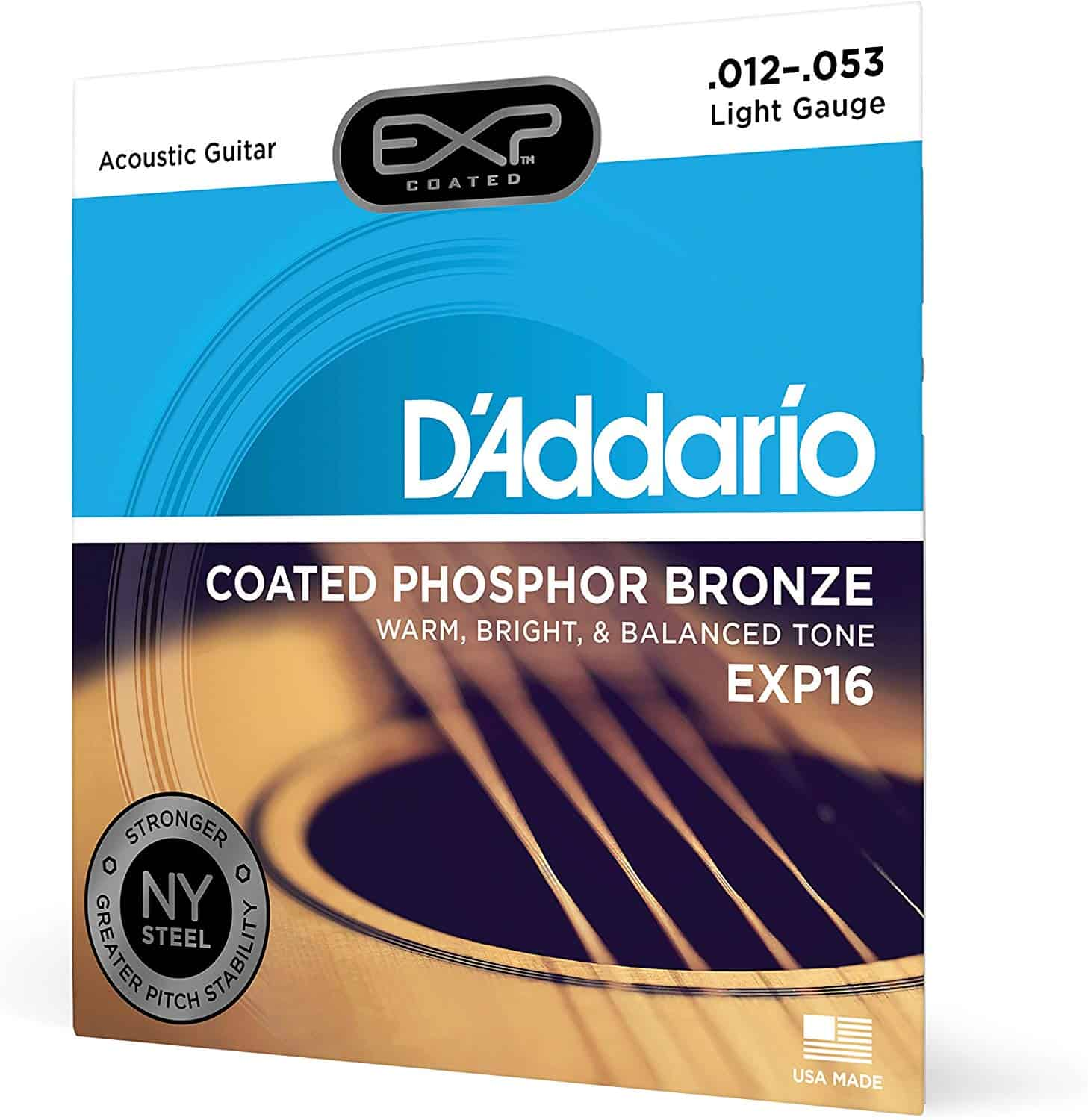 D'Addario extended life coated strings.