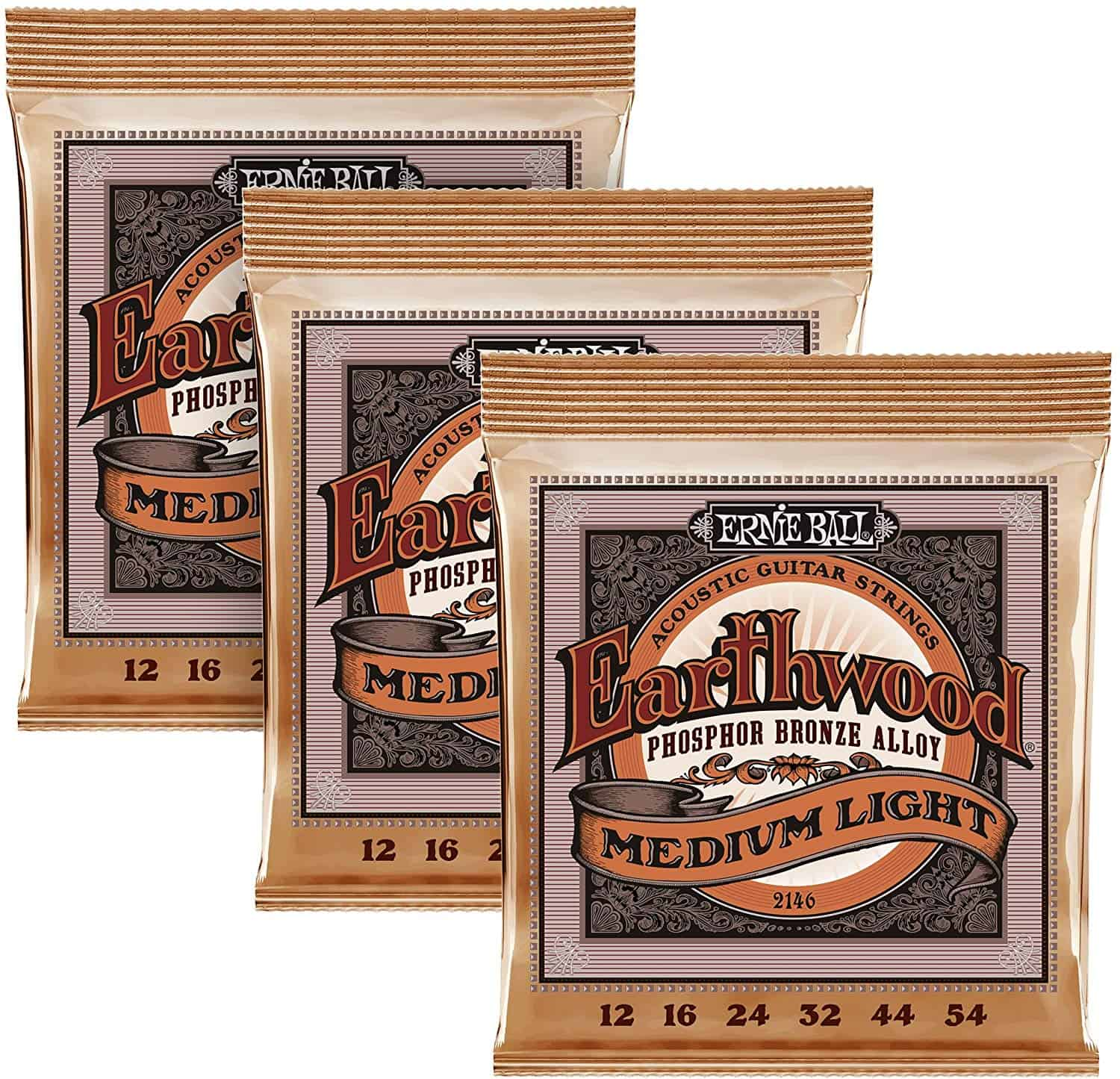Ernie Ball Earthwood Medium Light Phosphor Bronze Strings
